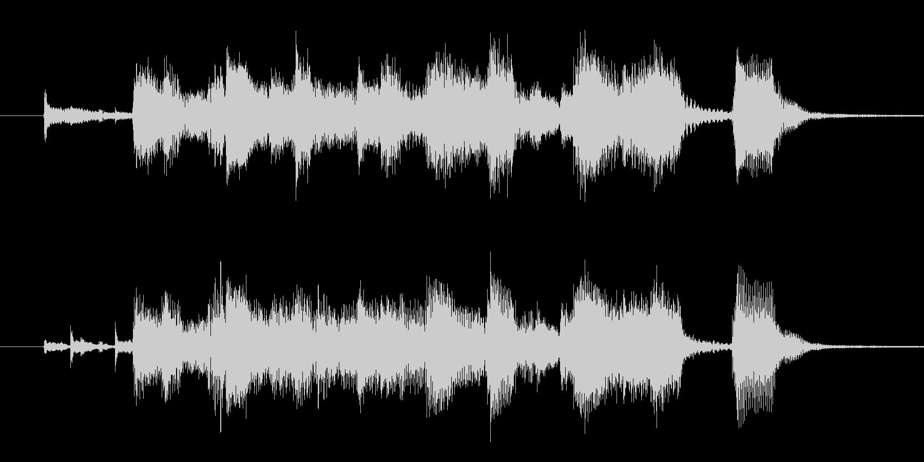ビッグバンド・ゴージャス・ジングルの未再生の波形
