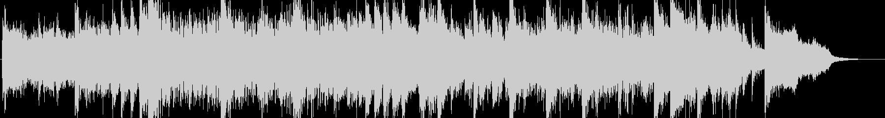 「ミュージカル調の派手で賑やかなBGM」の未再生の波形