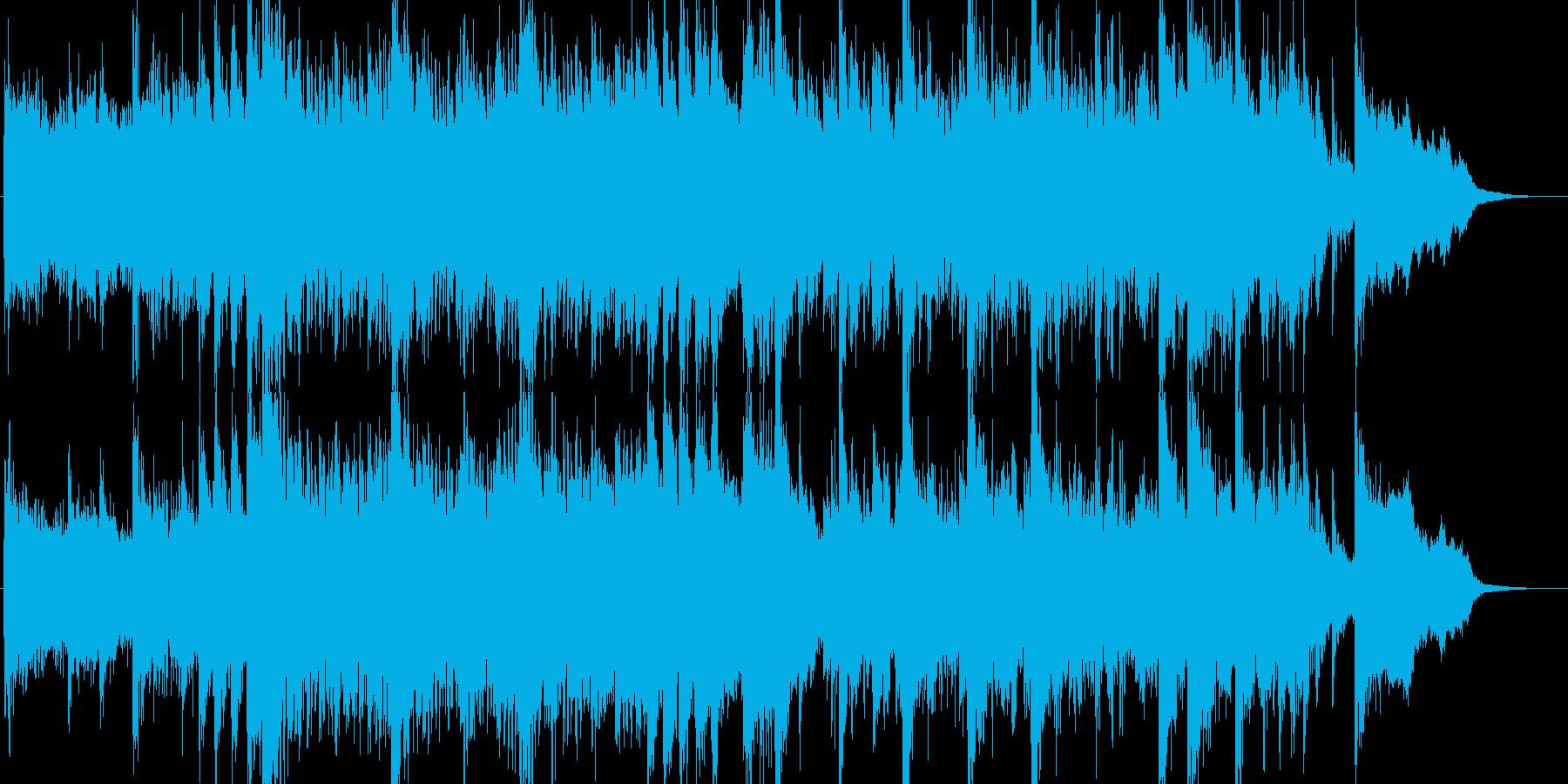 「ミュージカル調の派手で賑やかなBGM」の再生済みの波形