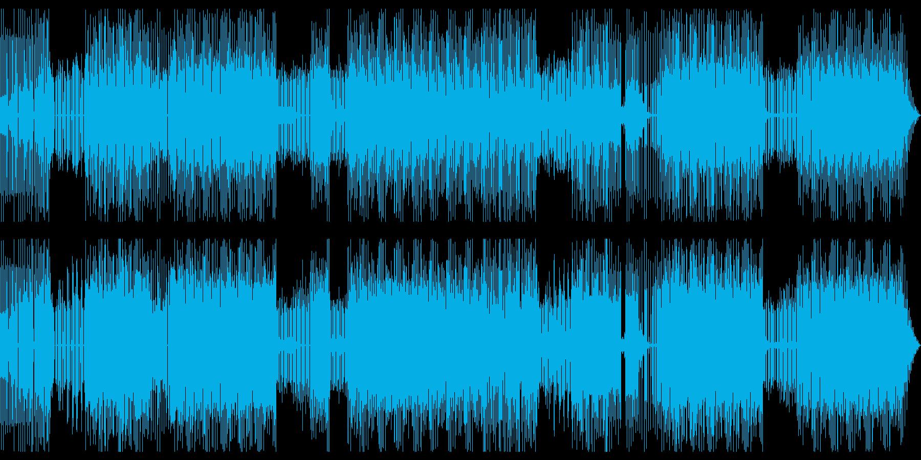 緊迫感のある戦闘シーン用ビートの再生済みの波形