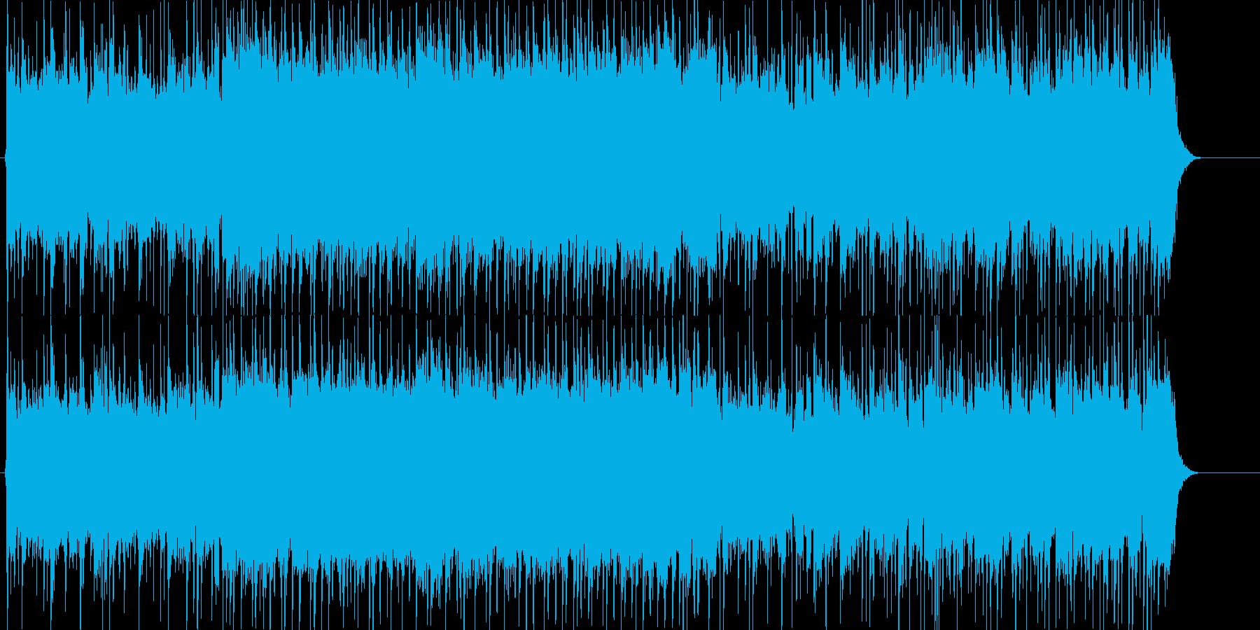 闘志みなぎるエキサイティングロックの再生済みの波形