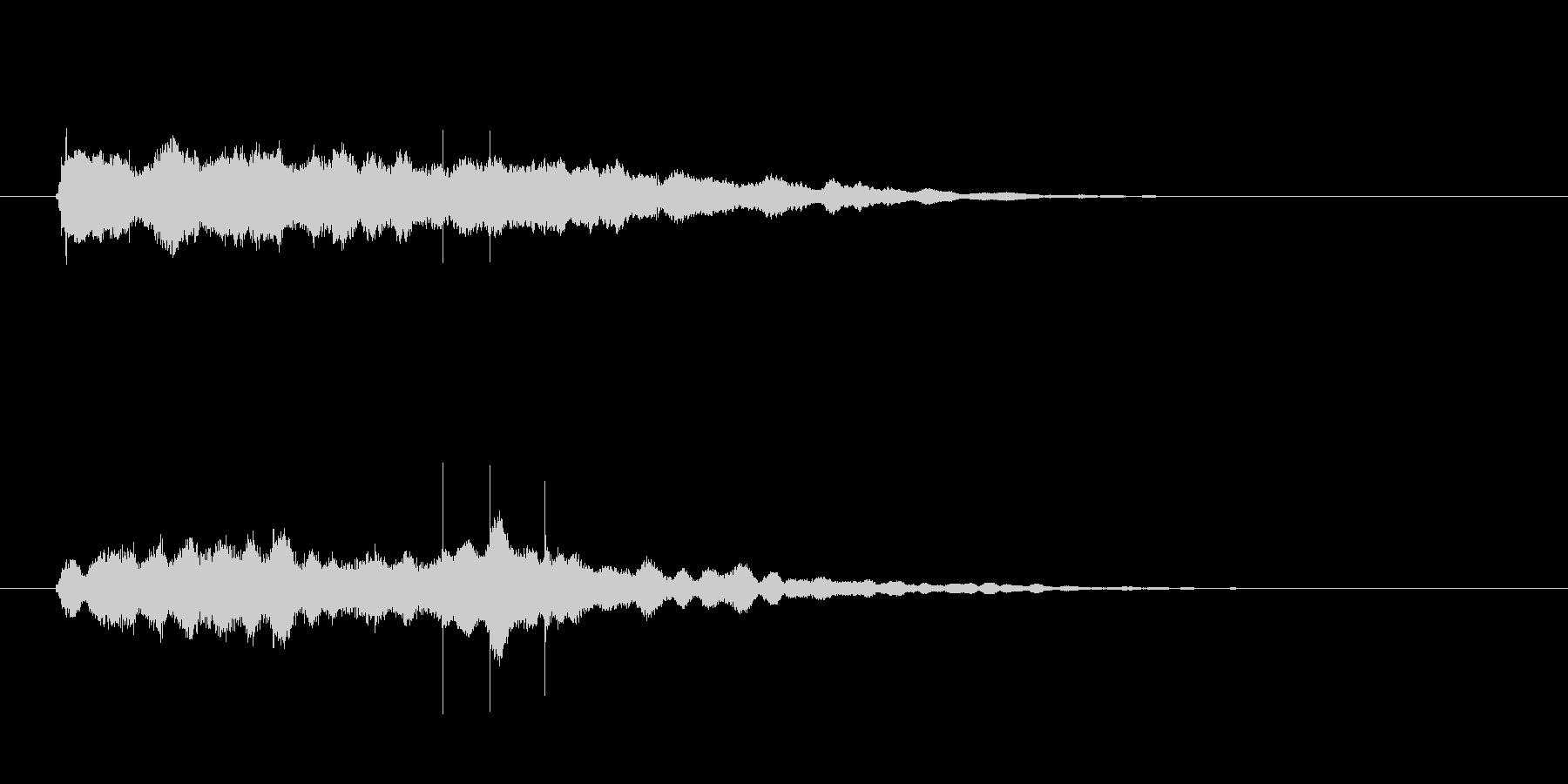 最後に企業名が出た時のサウンドロゴ02の未再生の波形