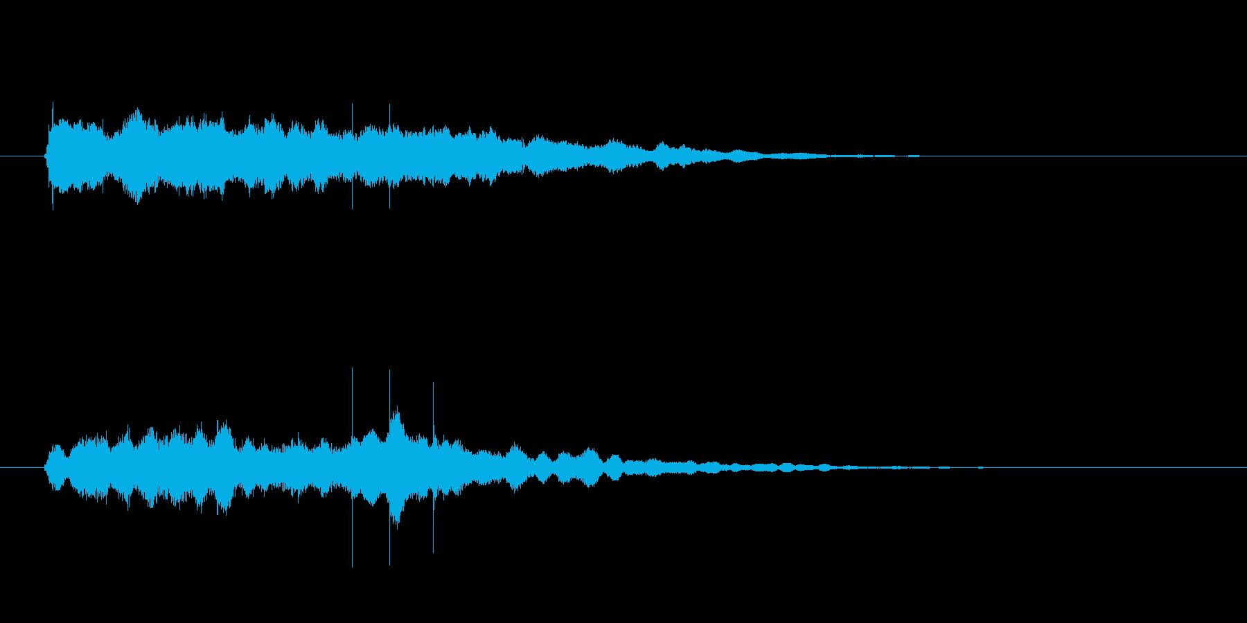 最後に企業名が出た時のサウンドロゴ02の再生済みの波形