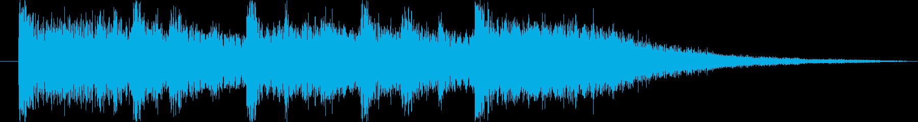 場面転換ジングル2秒の再生済みの波形