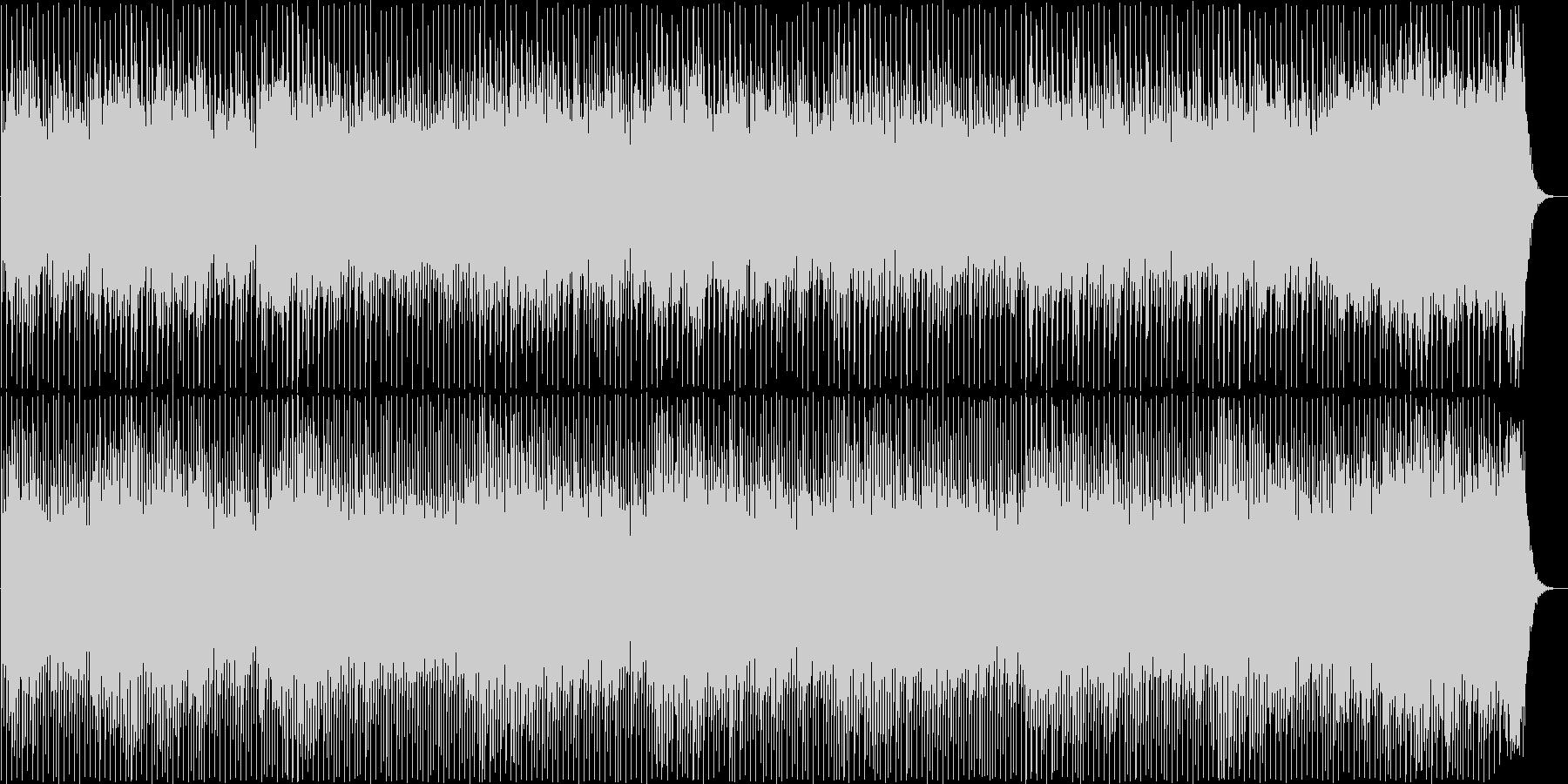 明るく軽快なポップミュージックの未再生の波形