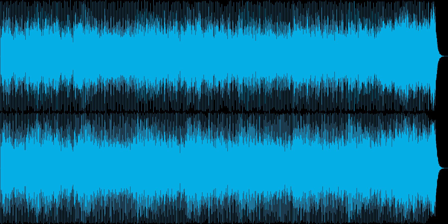 明るく軽快なポップミュージックの再生済みの波形