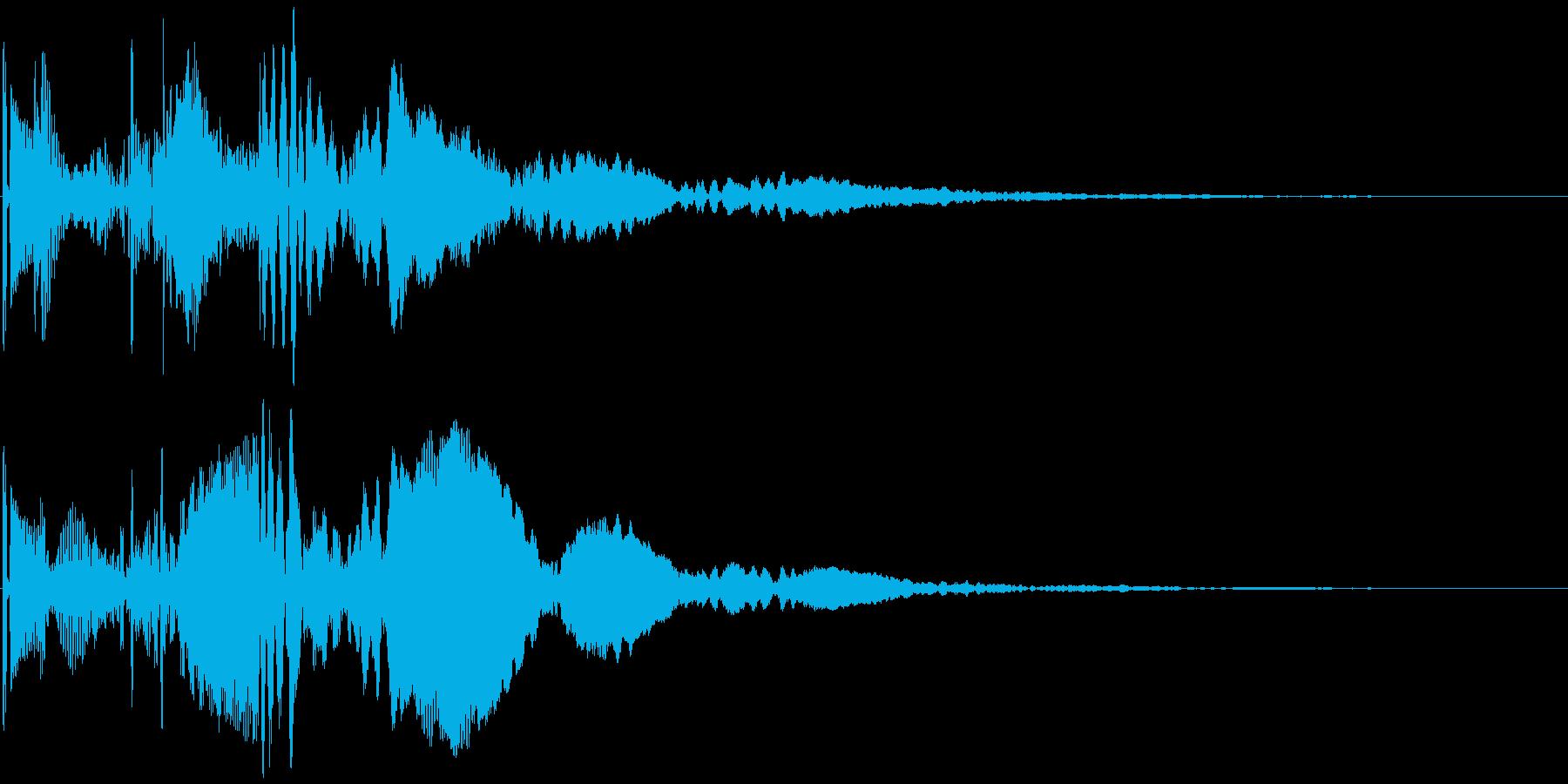 ポピピ↑ 角の無い丸みをおびたボタン音 の再生済みの波形