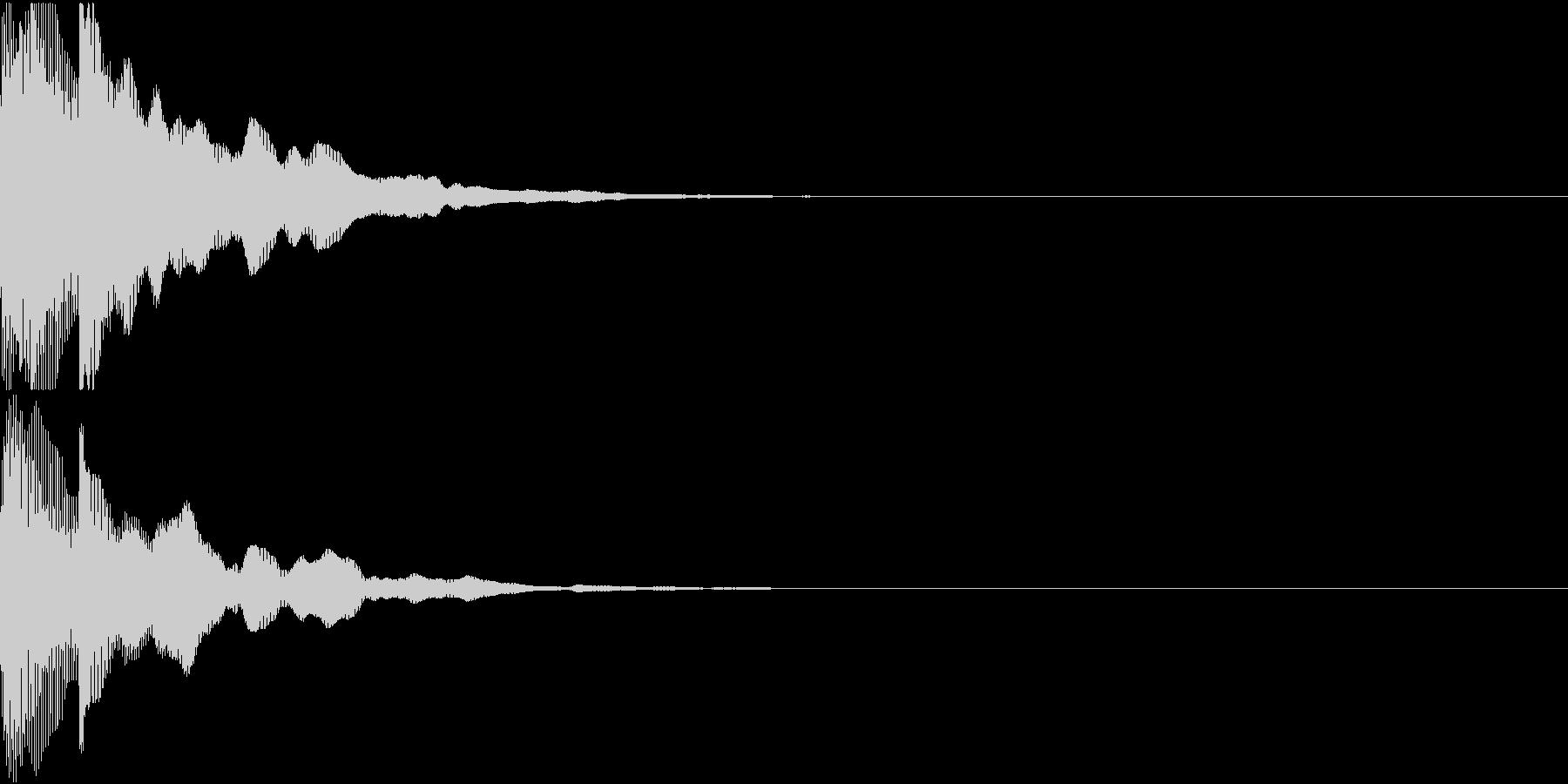 決定音12(ポカーン)の未再生の波形