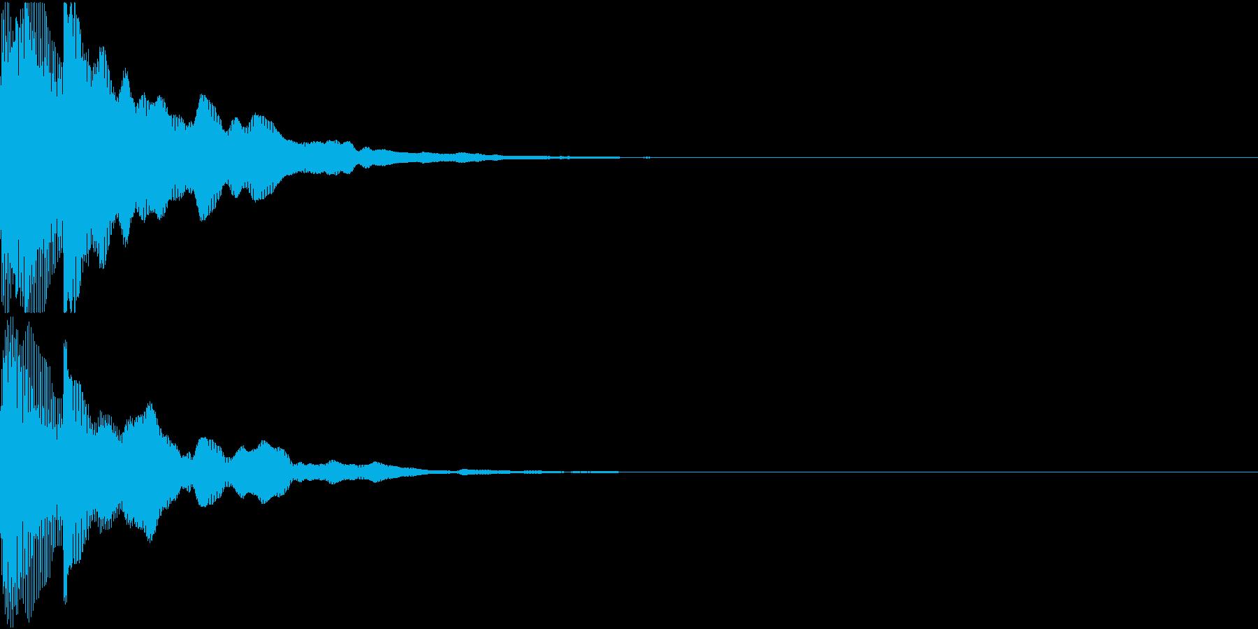 決定音12(ポカーン)の再生済みの波形