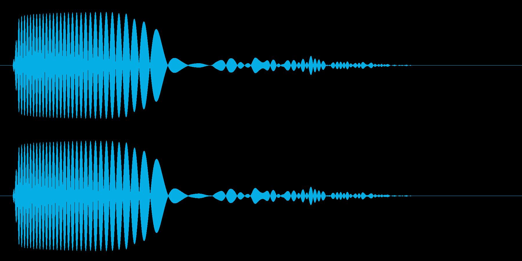 ドゥフ(バスドラム単発)の再生済みの波形