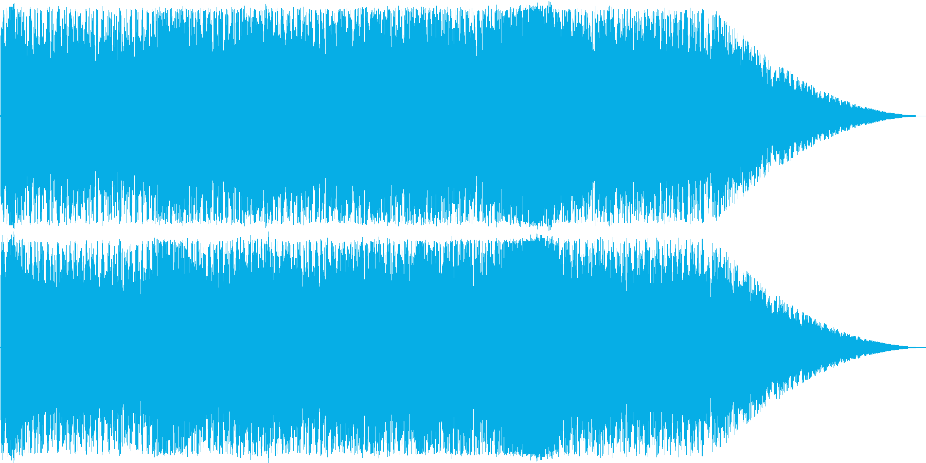 戦闘向けのサイバーなトランスの再生済みの波形