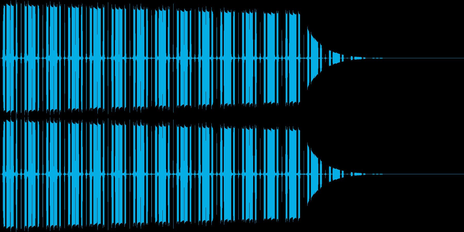 カーソル移動(ピ)の再生済みの波形