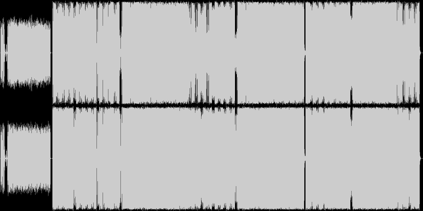 鼻歌で歌えるハードロックの未再生の波形