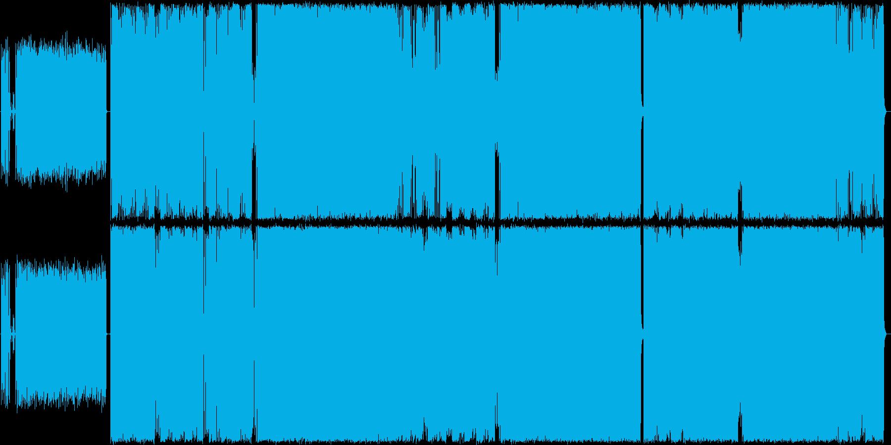 鼻歌で歌えるハードロックの再生済みの波形