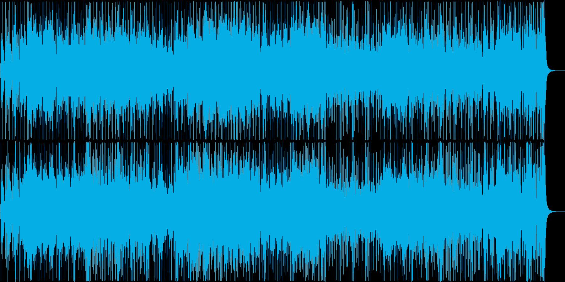 和楽器中心の落ち着いたクールな曲の再生済みの波形