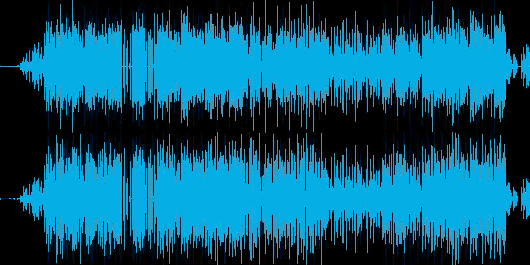 スクラッチ&エフェクトダークヒップホップの再生済みの波形