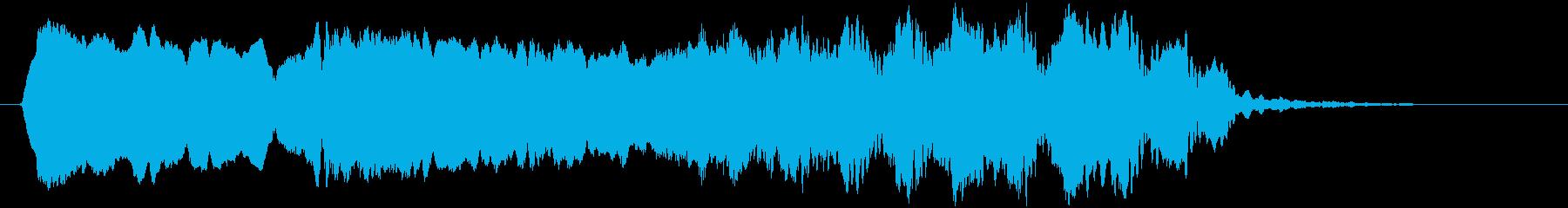 トンビ(トビ、鳶)ヒィーヨォォーロロロロの再生済みの波形