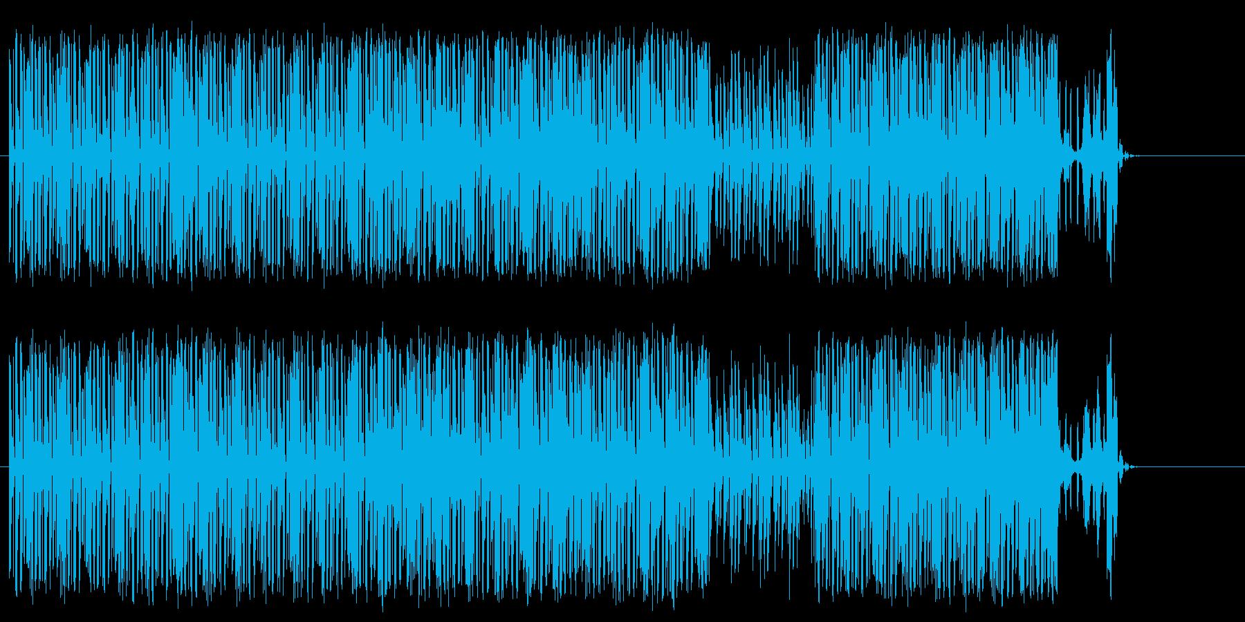 楽しい 忙しい 青空 コミカル はつらつの再生済みの波形