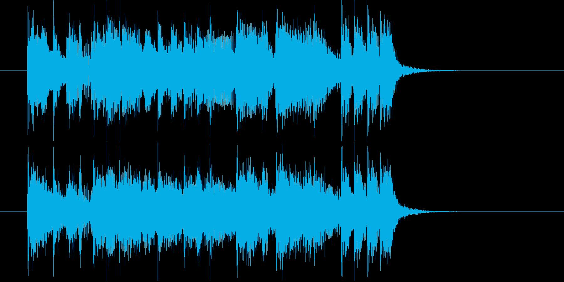 クールでありベースが印象的なロックの再生済みの波形