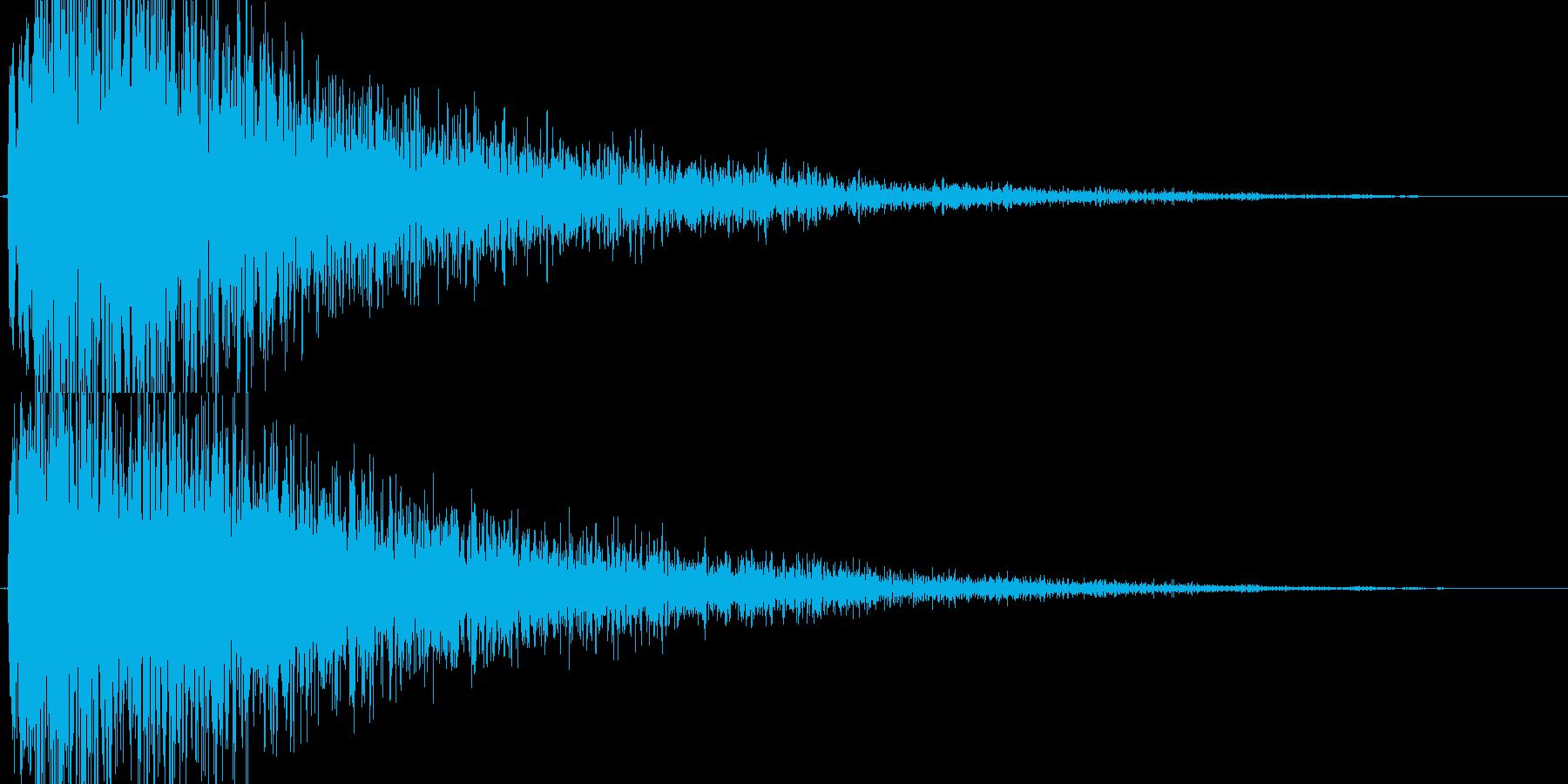 【爆音1】どかーん!という爆発音です。の再生済みの波形