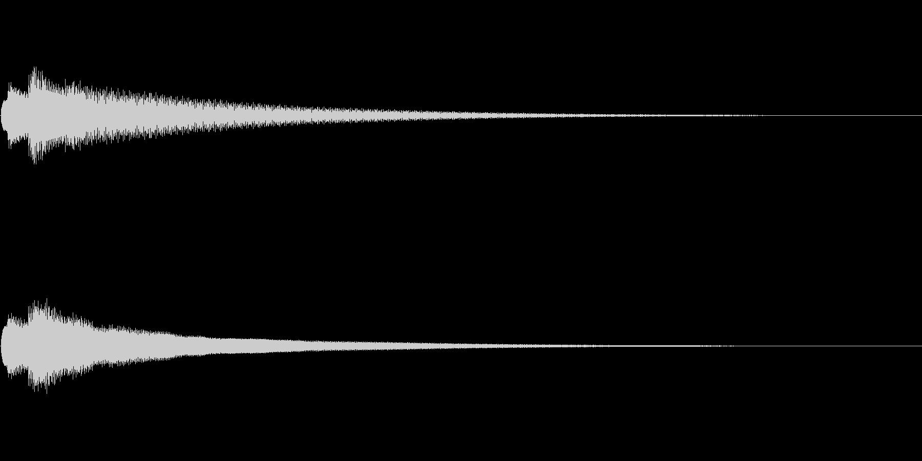 チャリーン(ひらめき・コイン)の未再生の波形