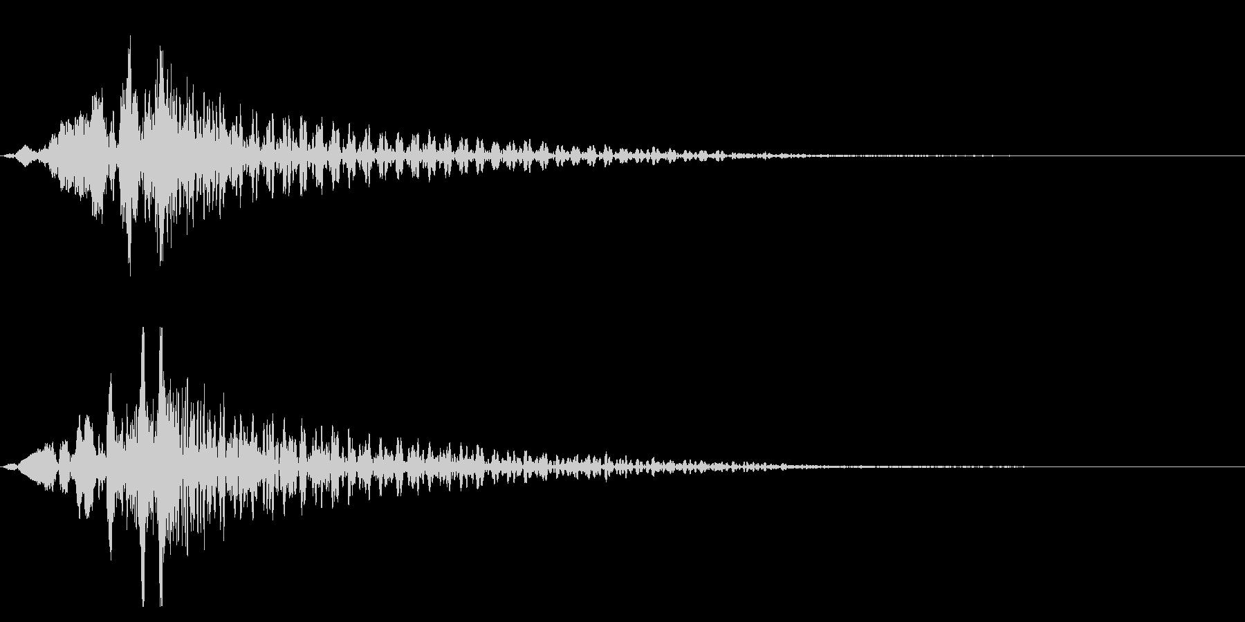 ホラー系アタック音139の未再生の波形