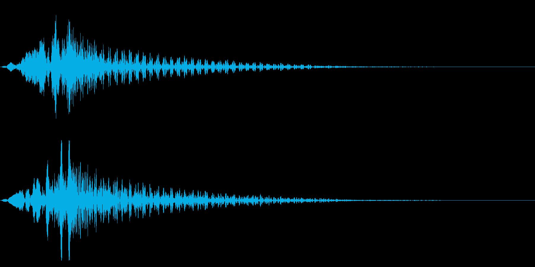 ホラー系アタック音139の再生済みの波形