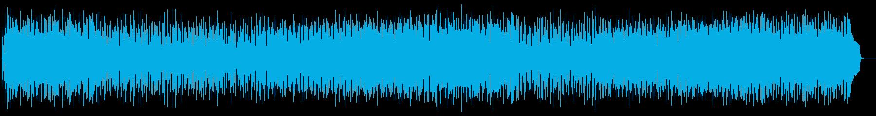 リラクゼーション溢れる曲の再生済みの波形