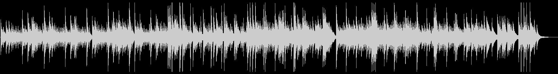 優しく感動的なピアノのバラードの未再生の波形