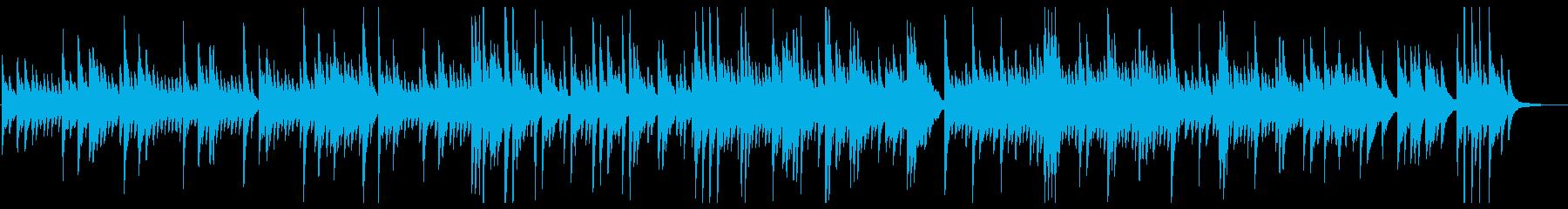 優しく感動的なピアノのバラードの再生済みの波形