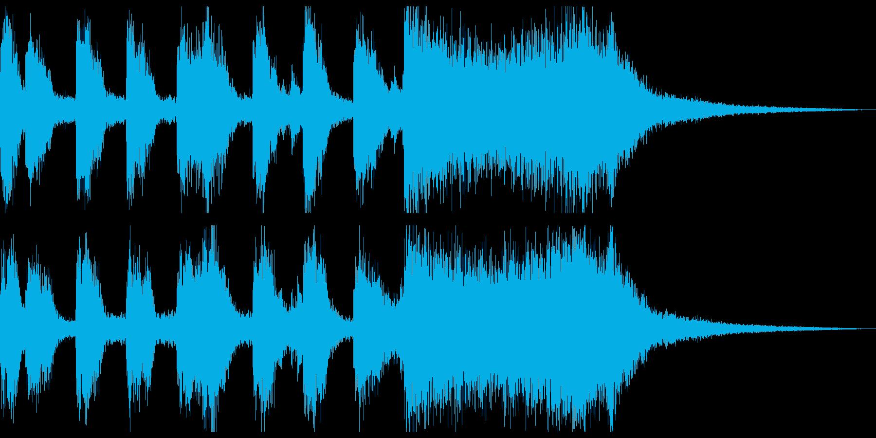ラテンノリの可愛いファンファーレの再生済みの波形
