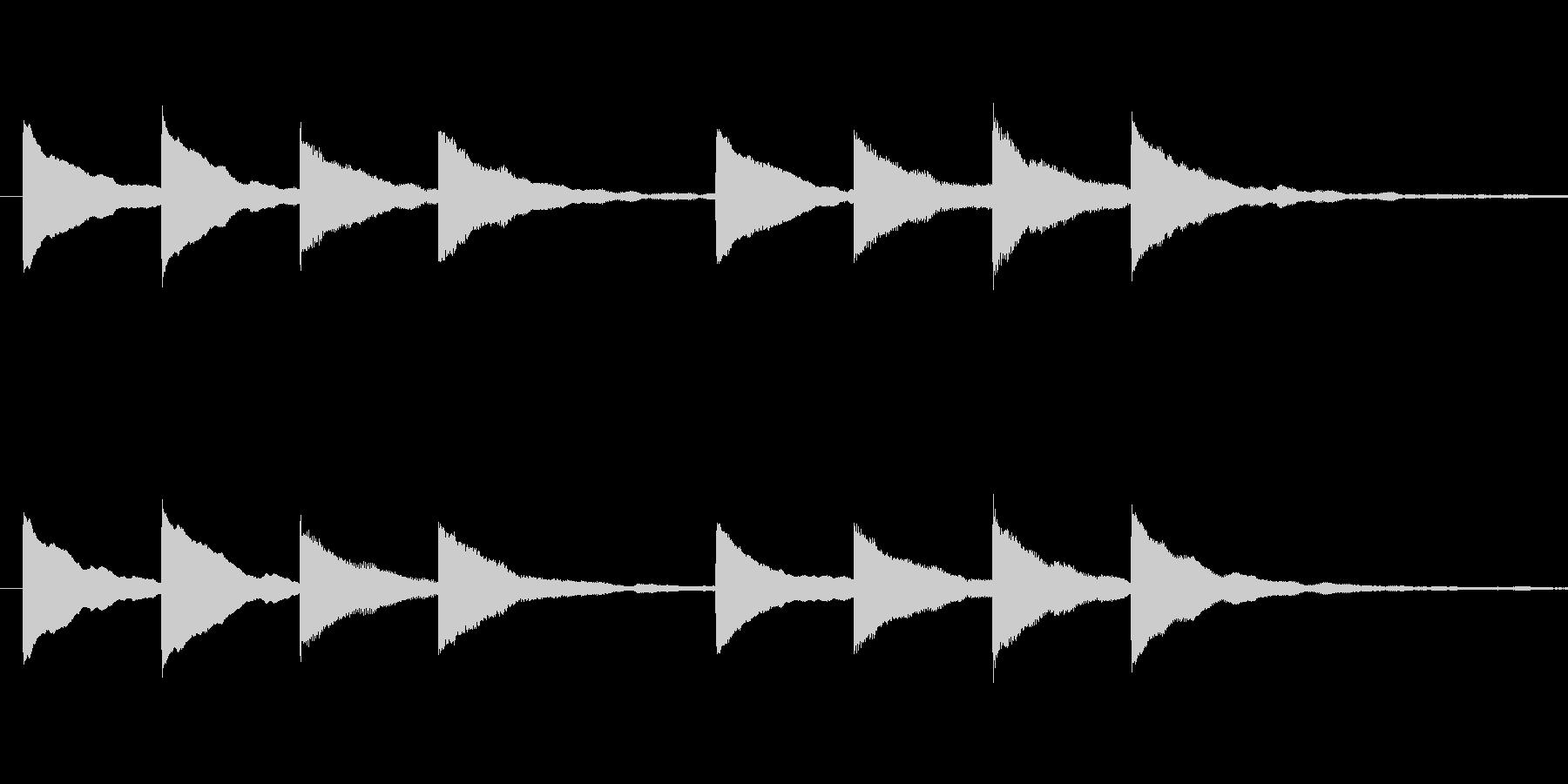 キンコンカンコン 学校チャイムの未再生の波形