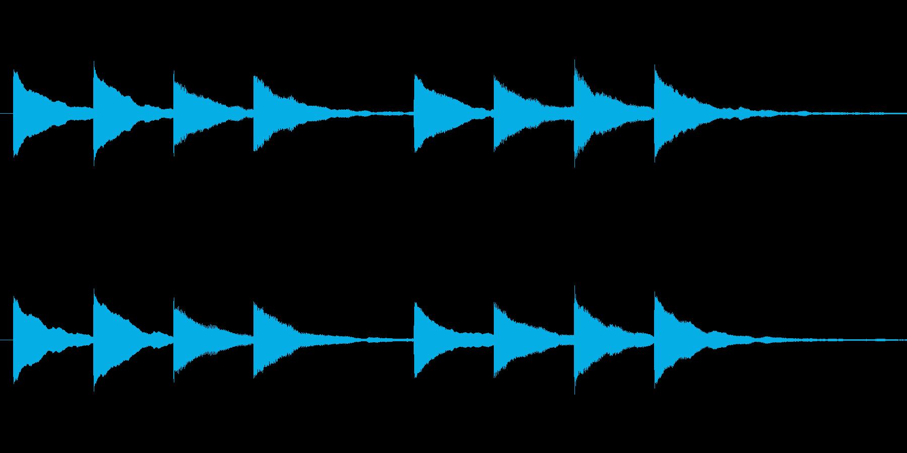 キンコンカンコン 学校チャイムの再生済みの波形