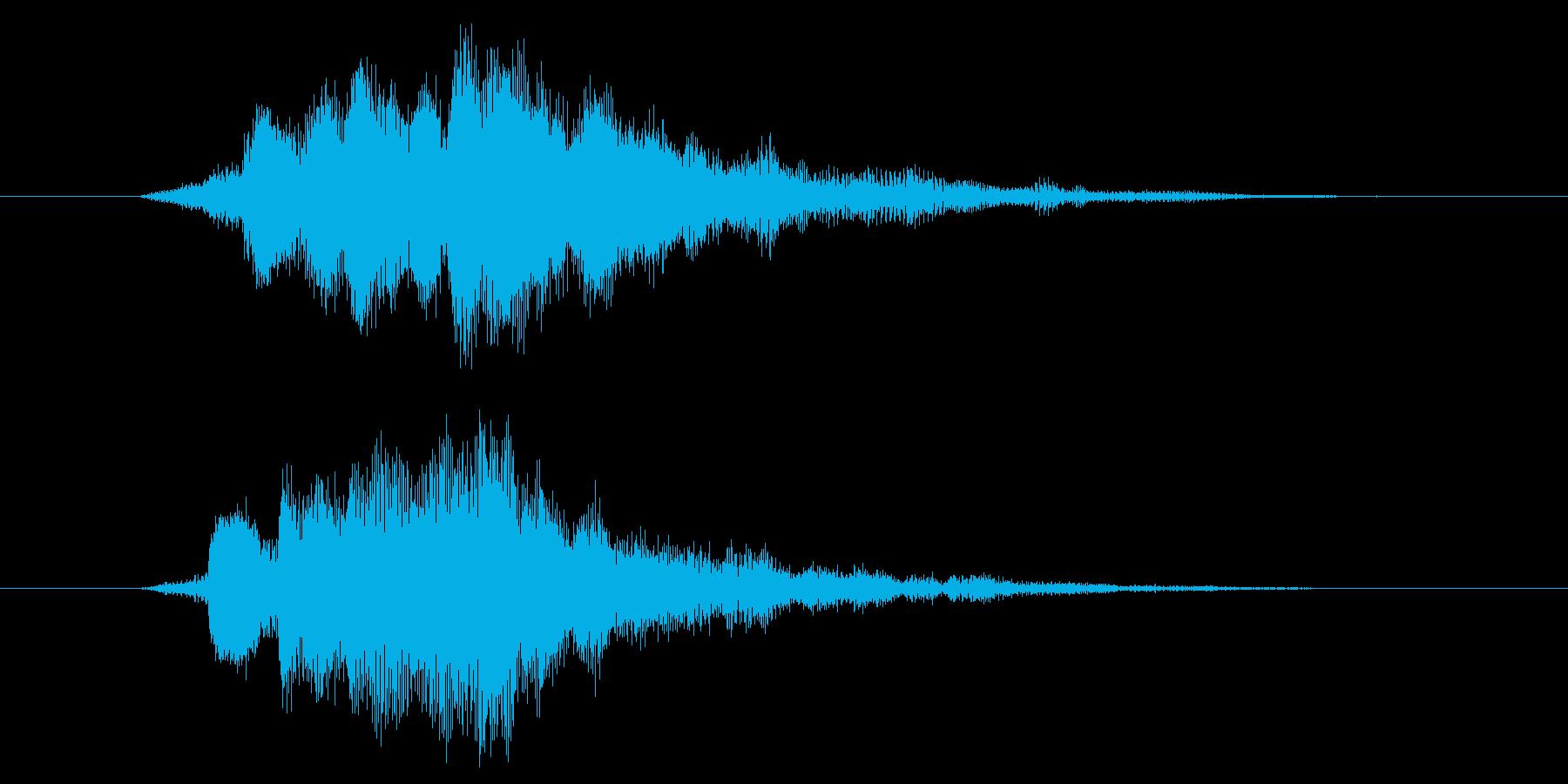 アプリやゲームなどの起動音をイメージし…の再生済みの波形