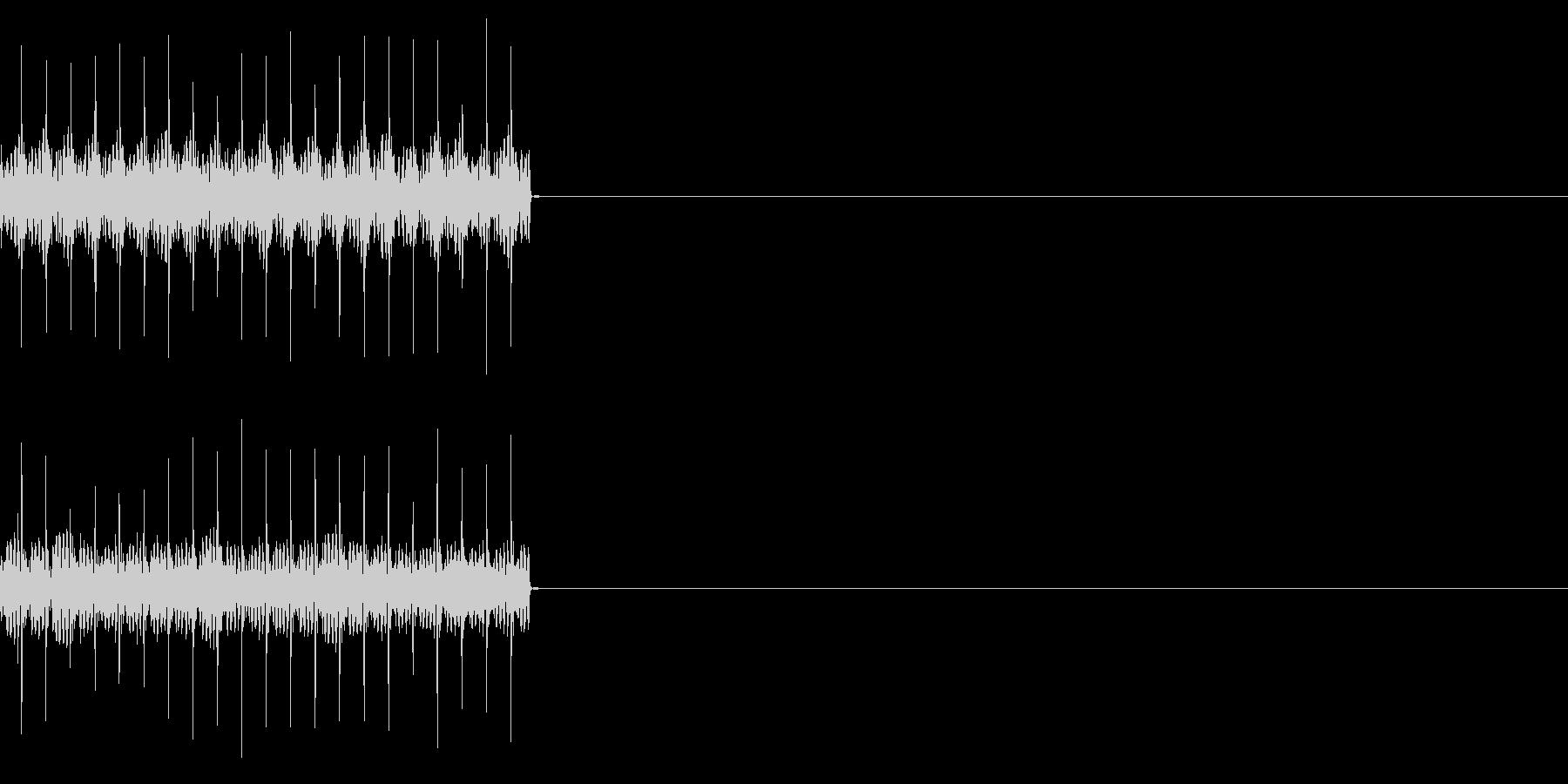 ビリビリ!電撃・感電の音!1ミドルの未再生の波形