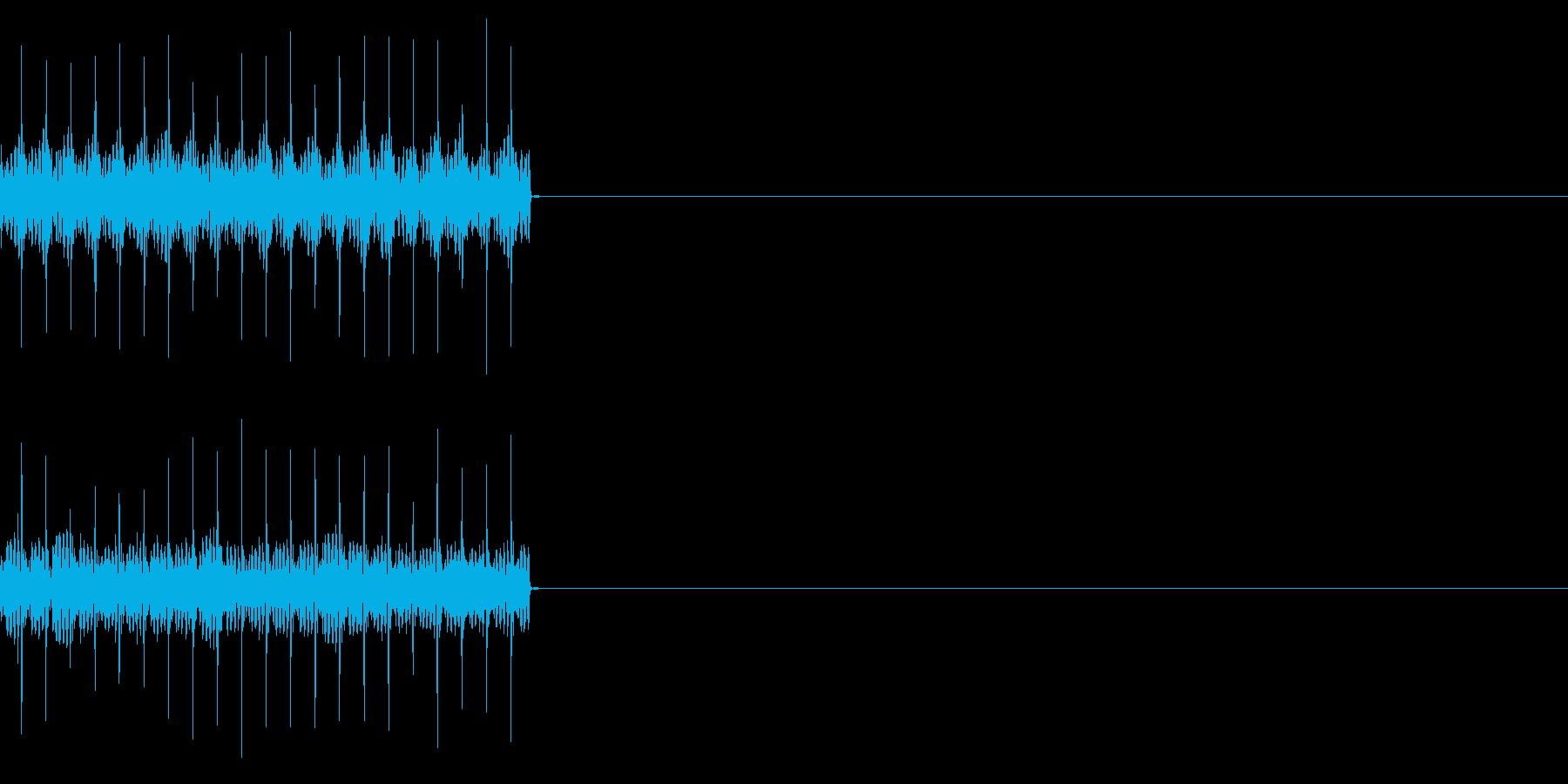 ビリビリ!電撃・感電の音!1ミドルの再生済みの波形