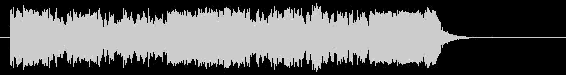 勢いがありエレクトーンが印象的なBGMの未再生の波形