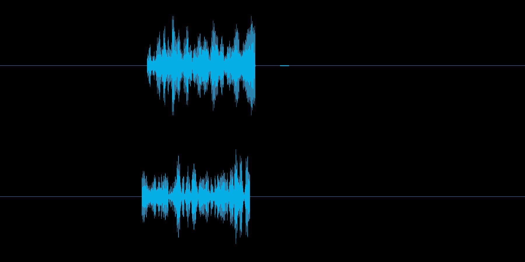 ガァー(何かが当たった音)の再生済みの波形