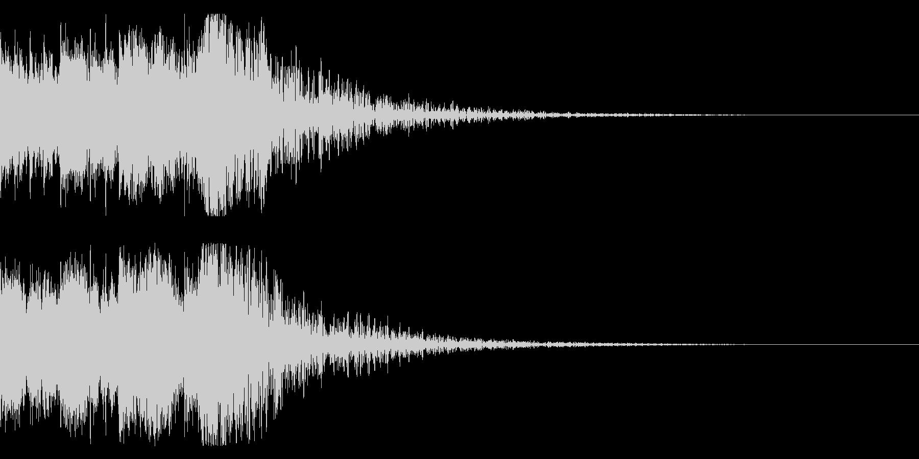 和風 オーケストラヒット ジングル!6bの未再生の波形