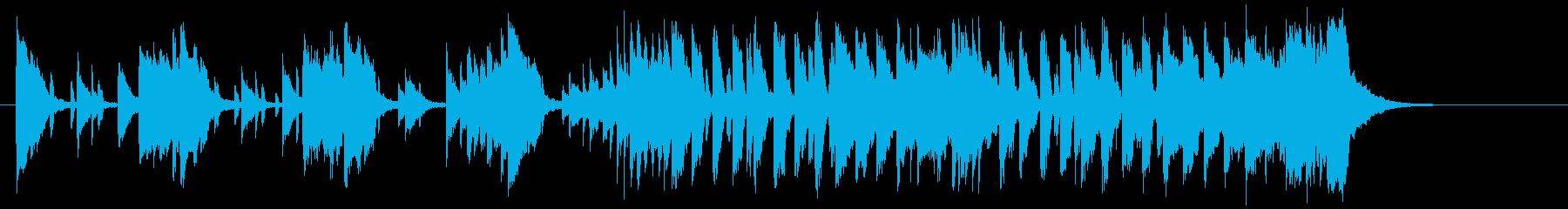 明るく元気のでる音楽の再生済みの波形