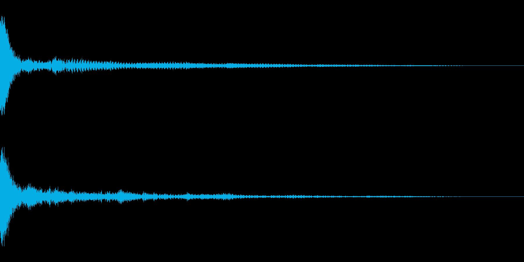ホラー系アタック音56の再生済みの波形