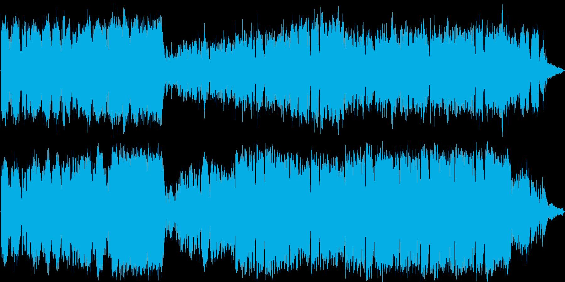 壮大な映画の一シーンのような音楽の再生済みの波形