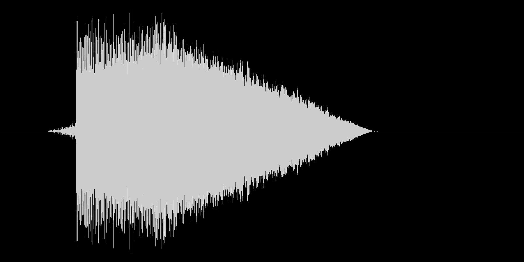 ゲーム(ファミコン風)ジャンプ音_045の未再生の波形