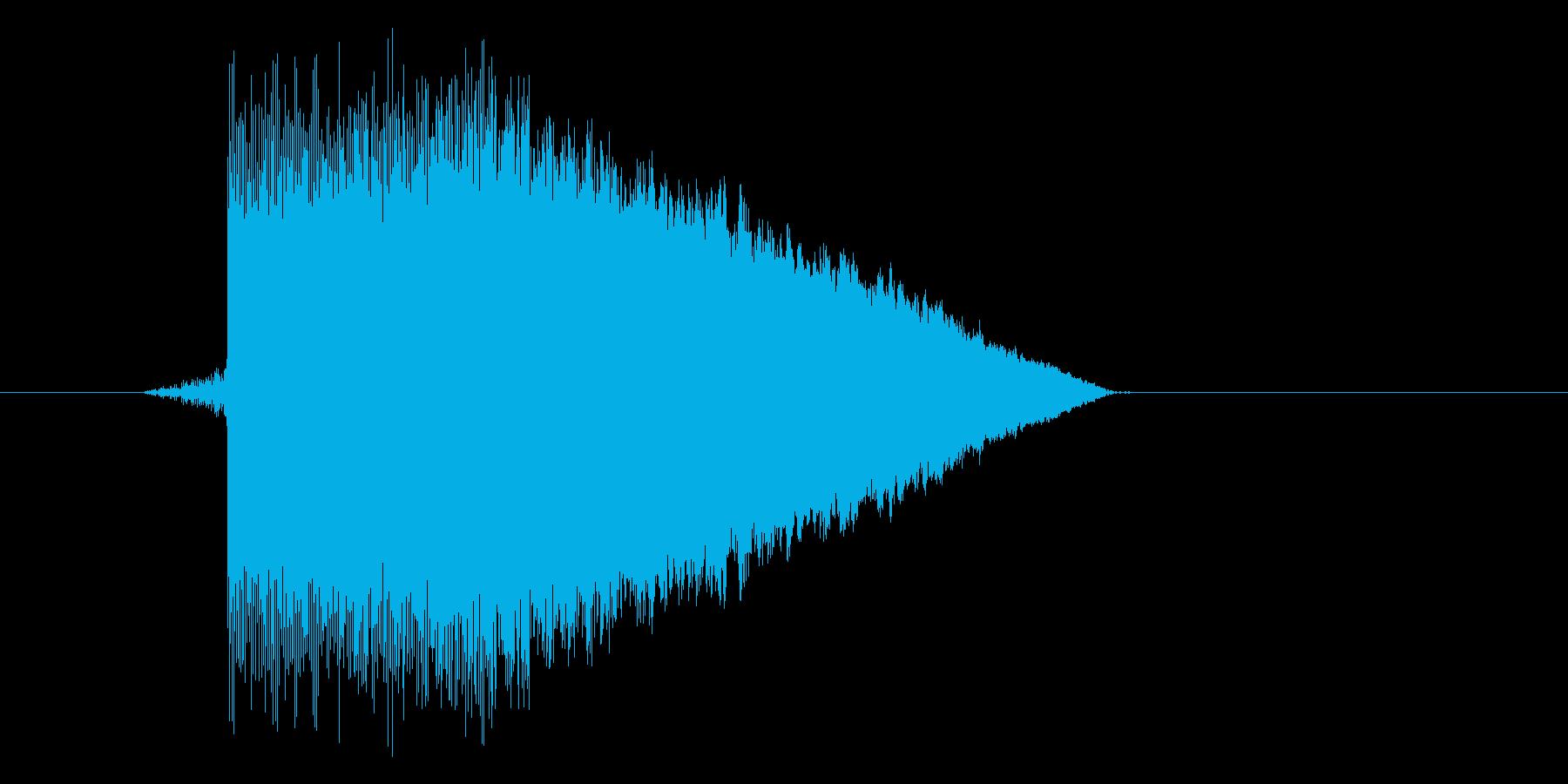 ゲーム(ファミコン風)ジャンプ音_045の再生済みの波形