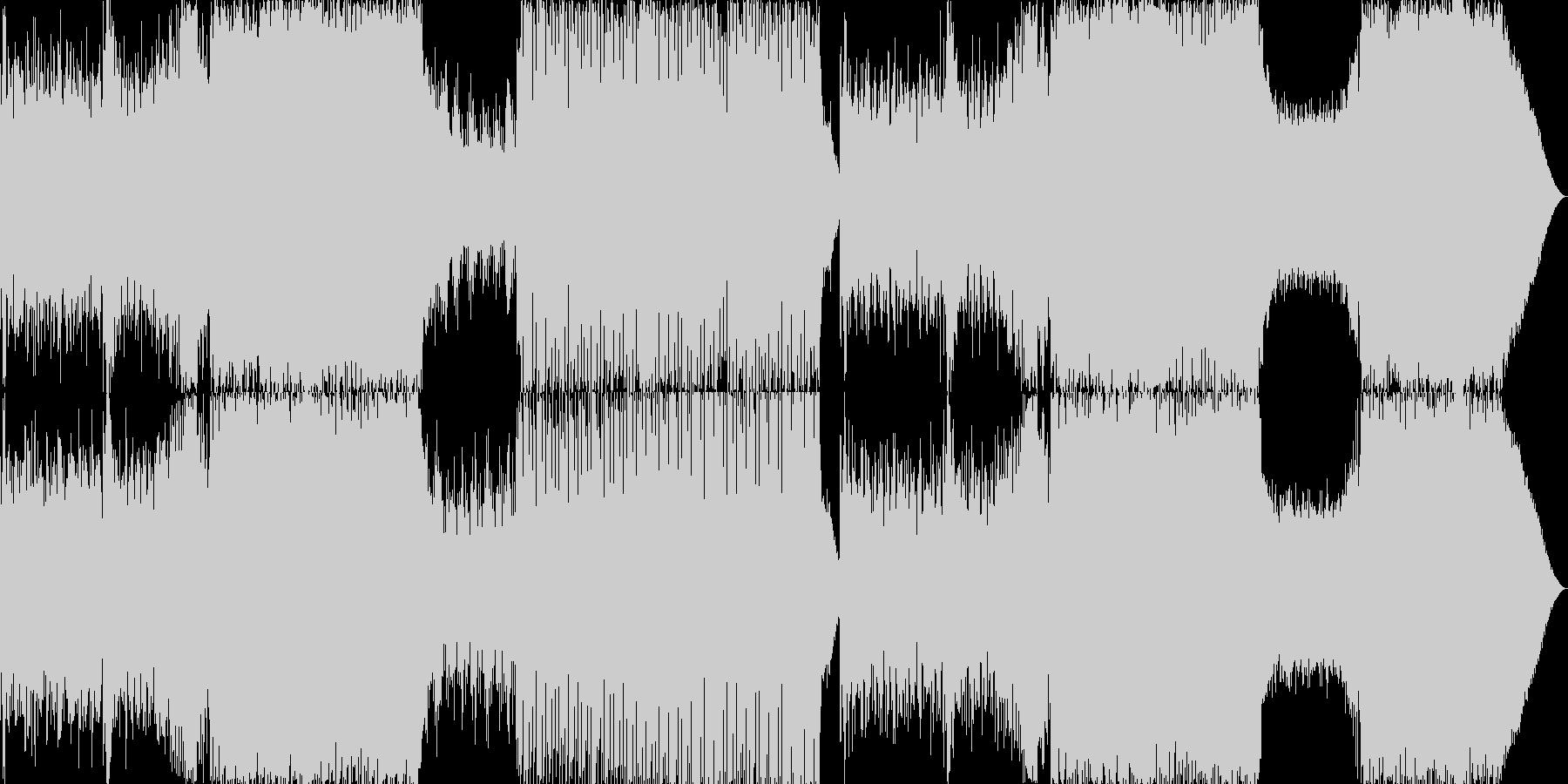 ピアノが印象的な切ないEDMの未再生の波形