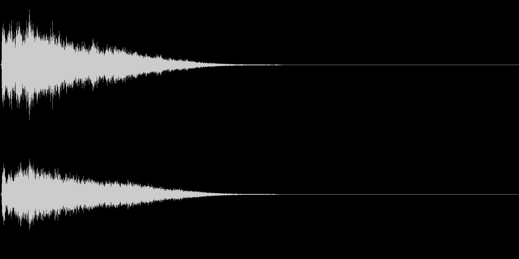 ゲームスタート、決定、ボタン音-024の未再生の波形