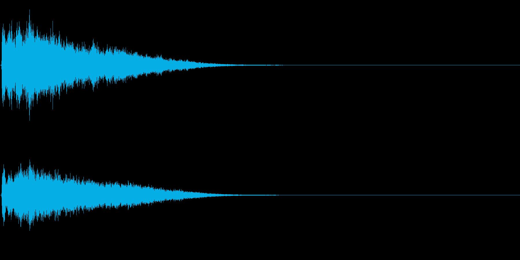 ゲームスタート、決定、ボタン音-024の再生済みの波形