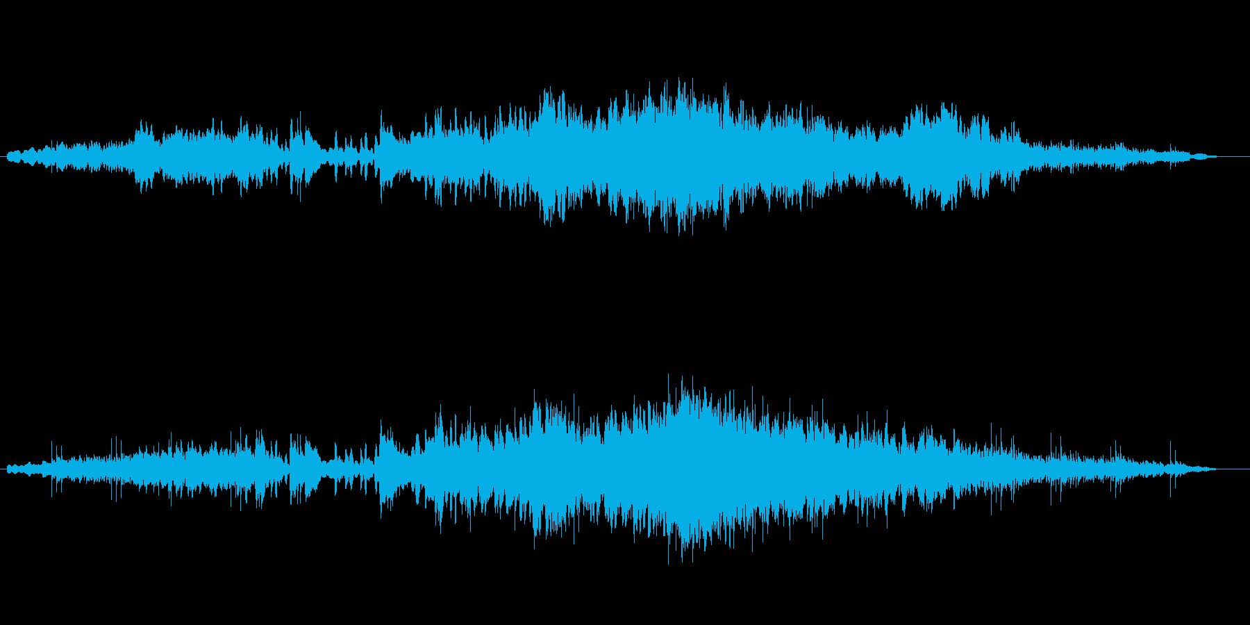 シンセの音がゆったりと響くバラードの再生済みの波形