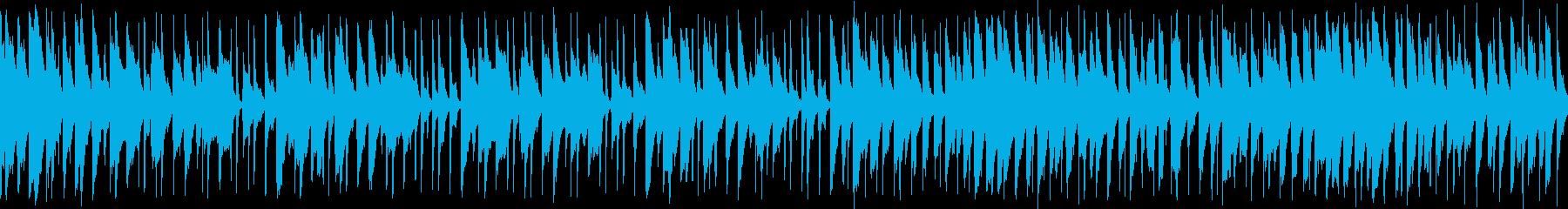 コミカルなラテン風の明るいBGMの再生済みの波形