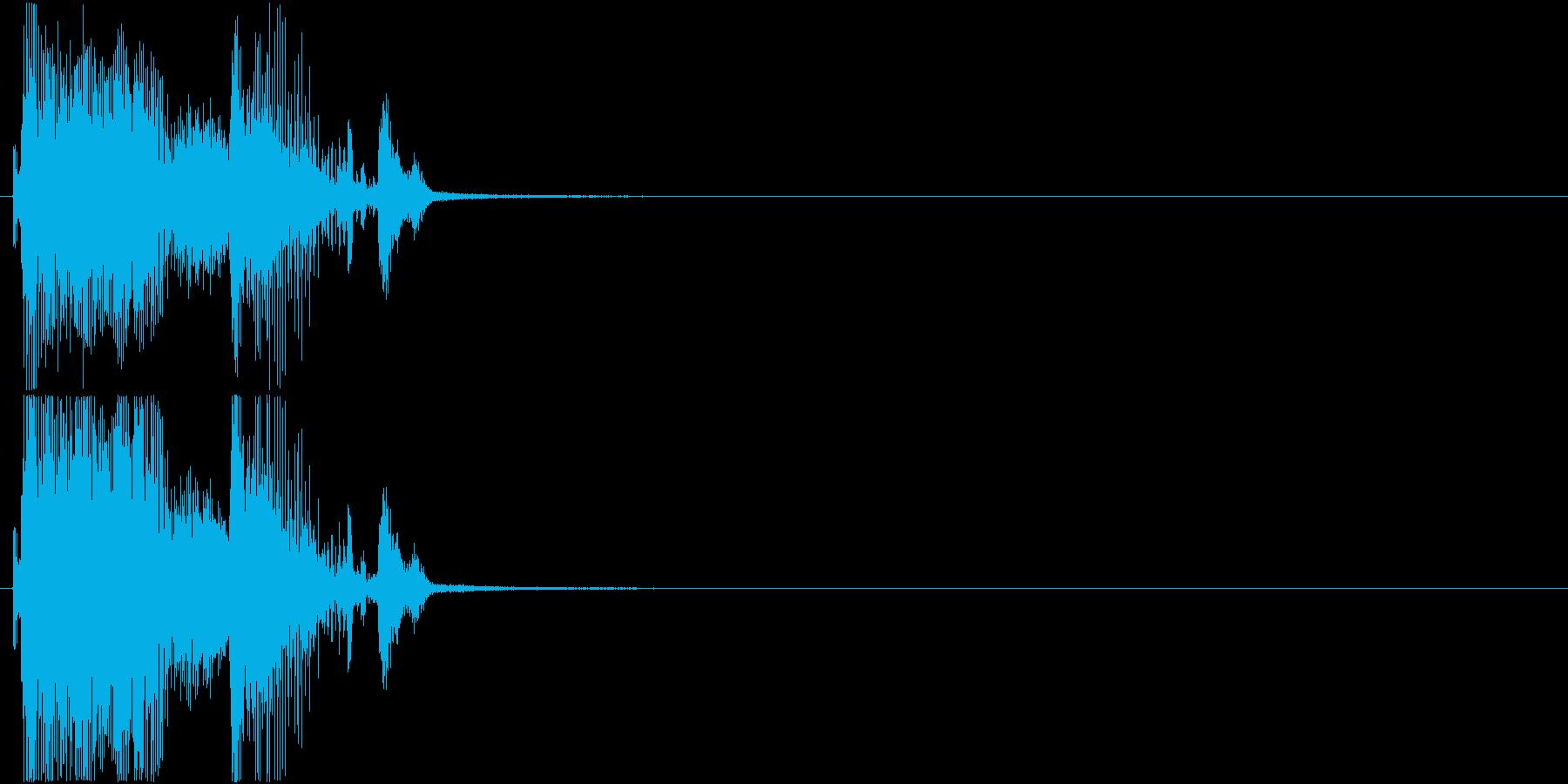 「パーフェクト」ゲーム・アプリ用1の再生済みの波形